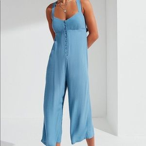 Urban Outfitters Asher Empire Button Down Jumpsuit